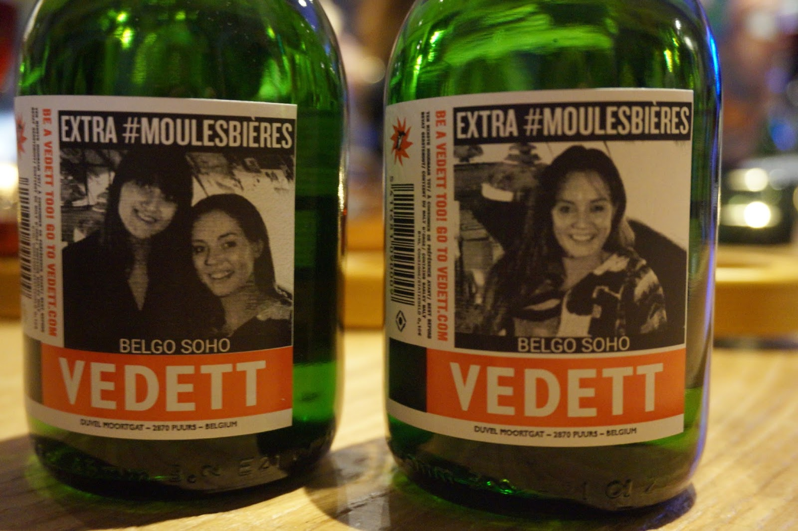 bottles of vedett beer