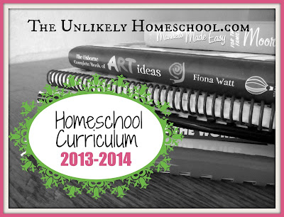 Homeschool Curriculum Choices 2013-2014