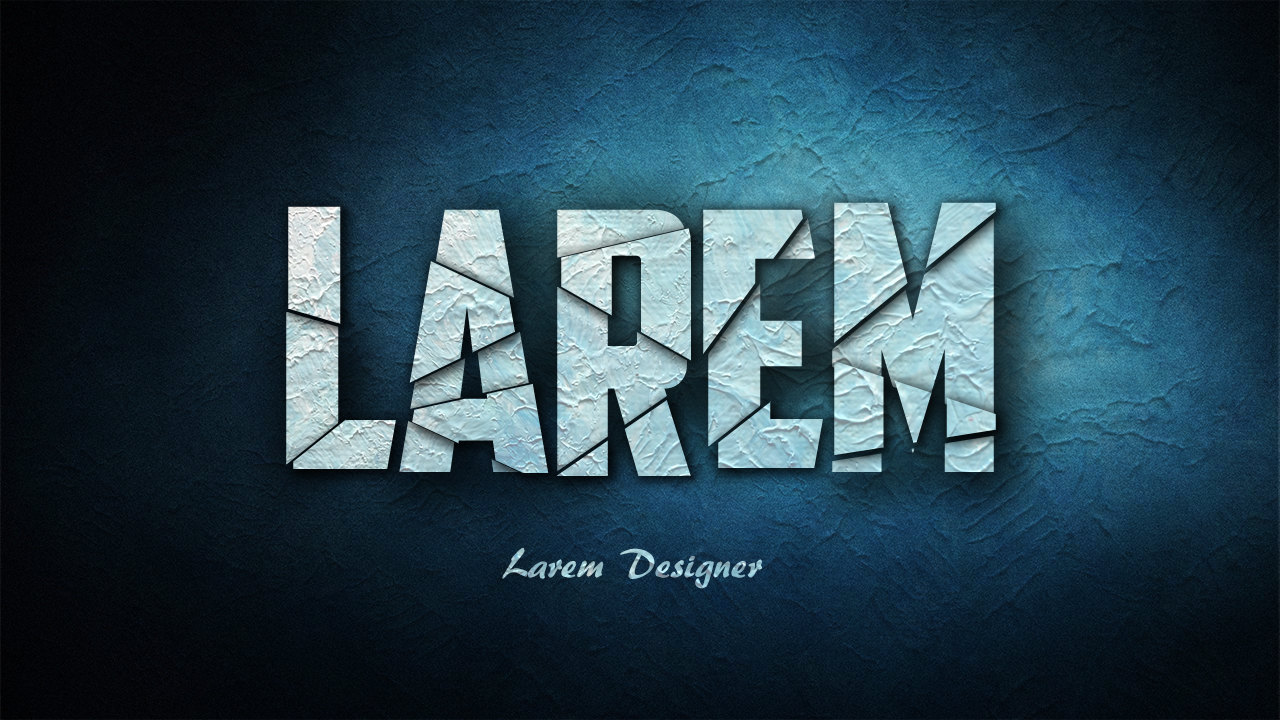 Broken text effect photoshop tutorials larem designer welcome to my new video tutorial in photoshop and the tuto of today is about the text effect the broken text effect just follow my steps in my video baditri Image collections