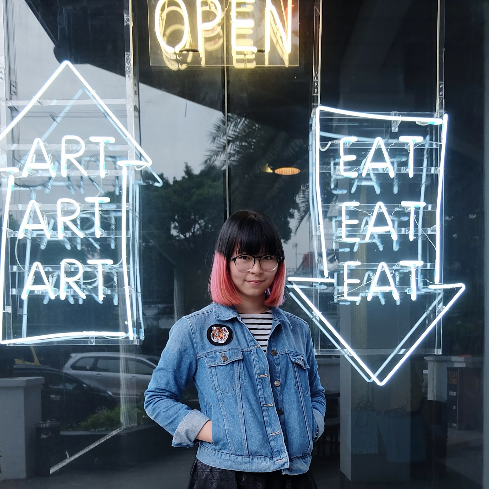 art, eat, stripes, and denim | bigdreamerblog.com