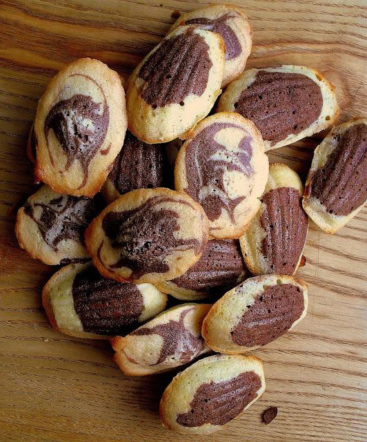 Łaciate magdalenki / Chocolate Marble Madeleines