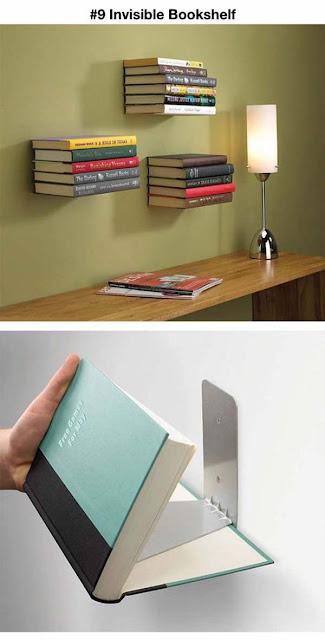 Livraria suspensa invisível