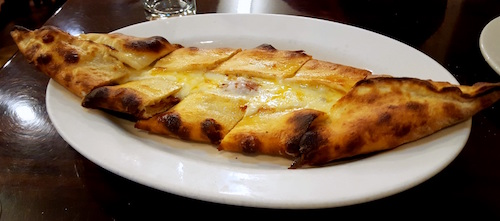 Cooked With Turkish Sucuk Sausage And Mozzarella I Cannot Attest To Whether They Let The Doughs Rise For Twelve Hours As Tradition Specifies