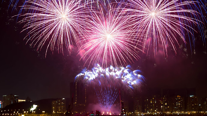 Wallpaper: Hot Fireworks