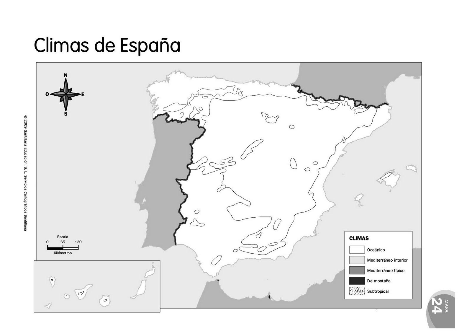 Mapa Climatico De España Mudo.Scienceclass6th Mapas Mudos De Espana