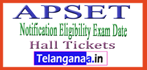 APSET Notification 2018 Eligibility Exam Date Hall Tickets