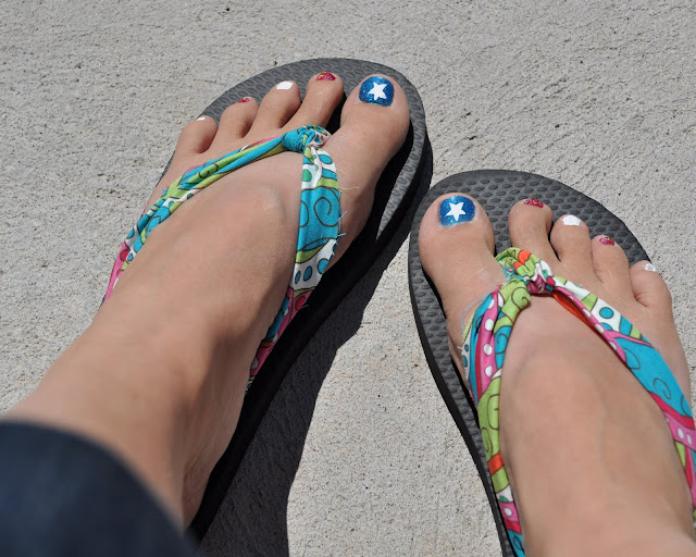 how to make fabric covered flip flops