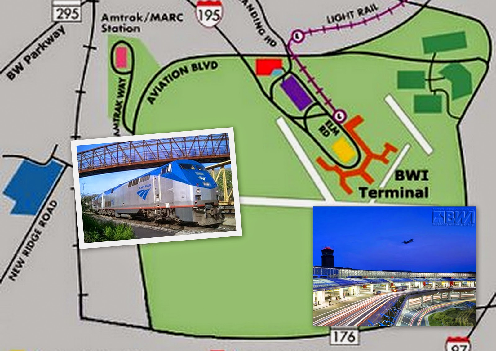 BWI Airport and AMTRAK Station BWI Airport