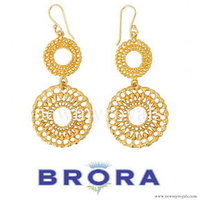 Kate Middleton Jeweler Brora Gold Charm Earrings