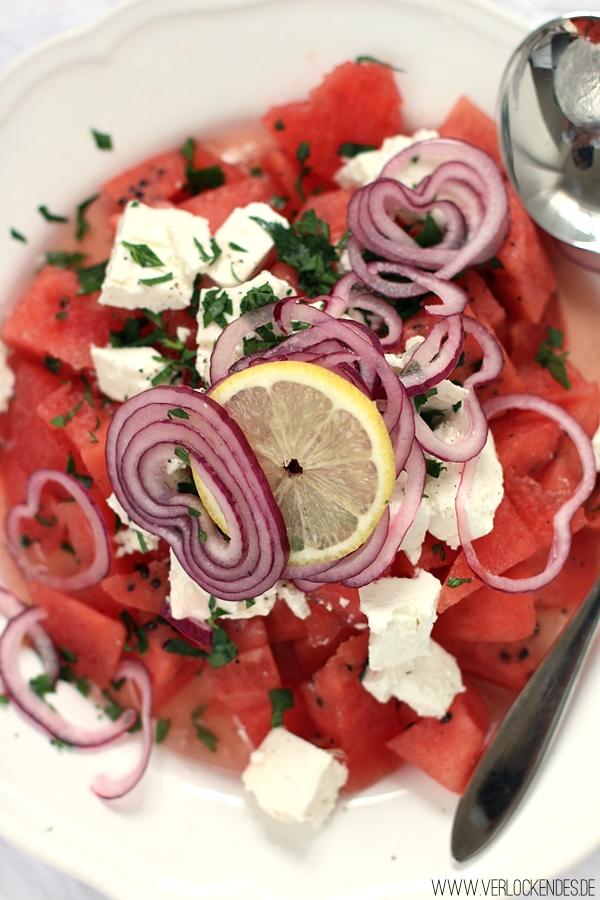 super einfache Rezepte Sommersalate Wassermelone