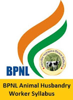 BPNL Animal Husbandry Worker Syllabus