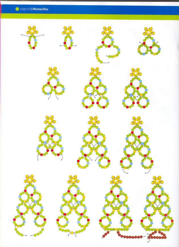 arbol, abeto, Navidad, mostacillas, tutoriales, manualidades, fiestas