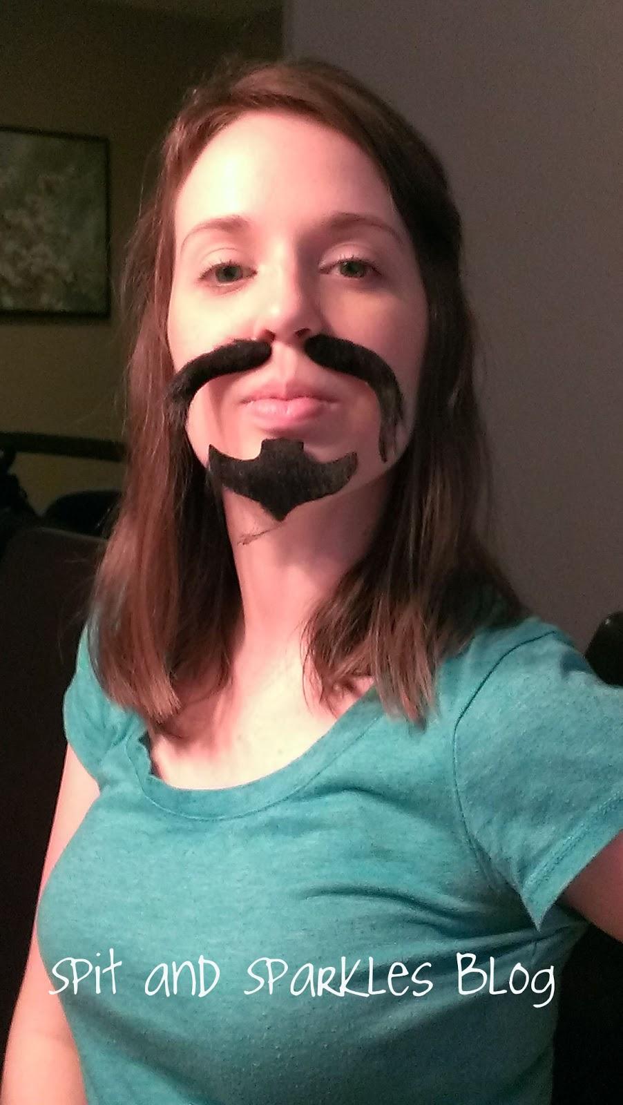 pretend mustache, mustache stickers