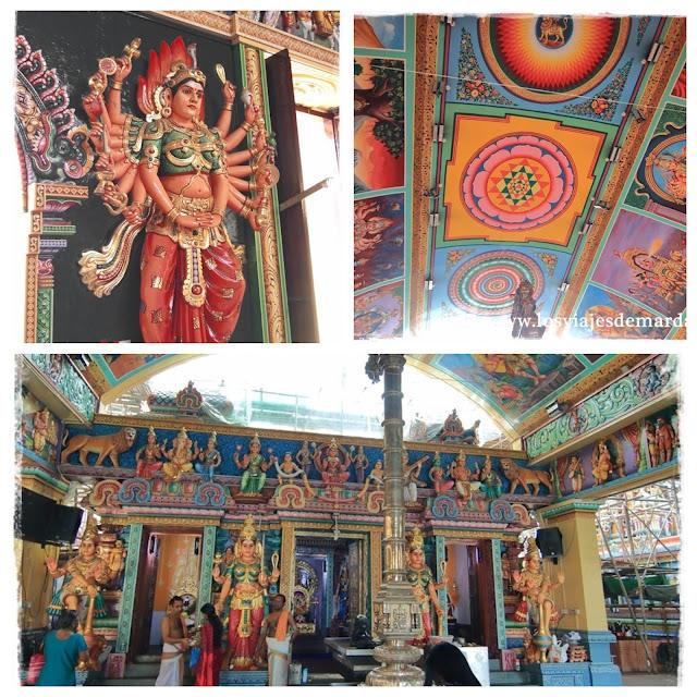 Interior del Sri Vadapathira Kaliamman