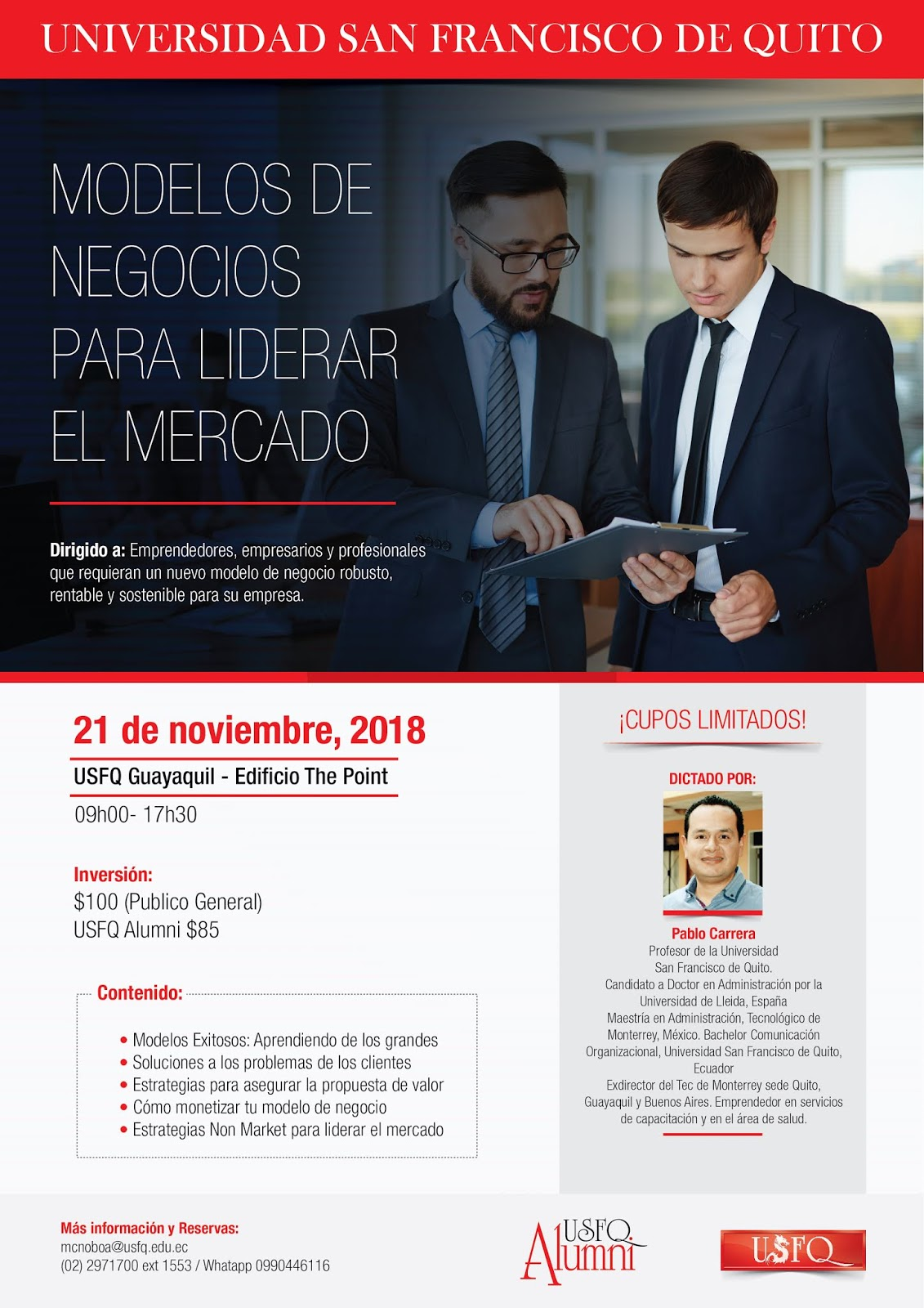 Vive Conectado - Alumni USFQ  Actualización Profesional  Modelos de ... c092eadb4b24b