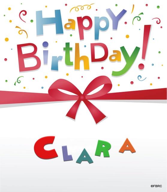 joyeux anniversaire clara chanson