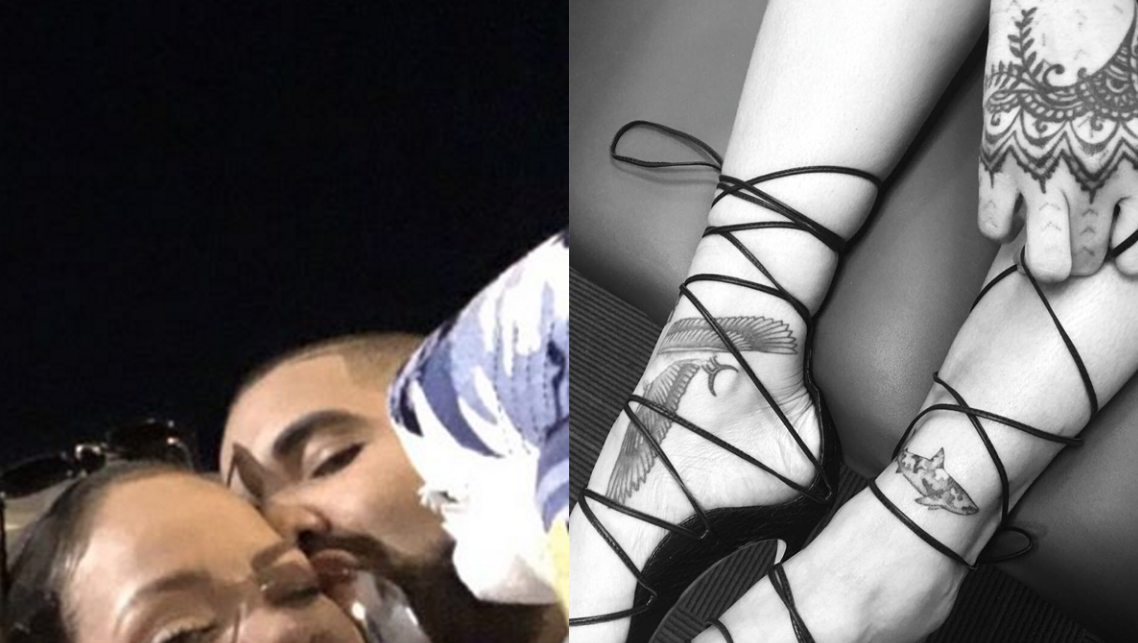 Rhymes with snitch celebrity and entertainment news for Drake new tattoo