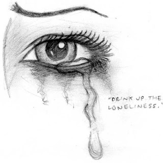 Ojo triste triste dibujado