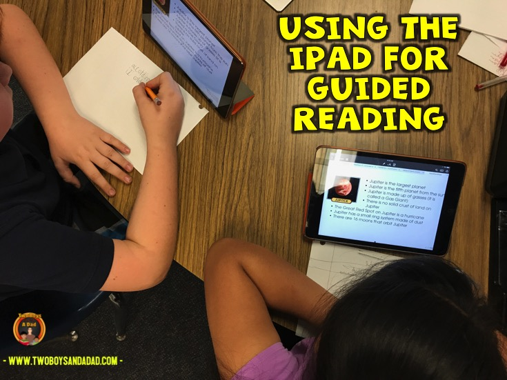 Using the iPad during guided reading