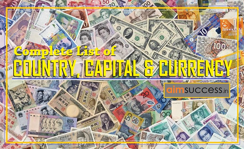 Complete List Of Country Capital And Currency Online - Country capital list