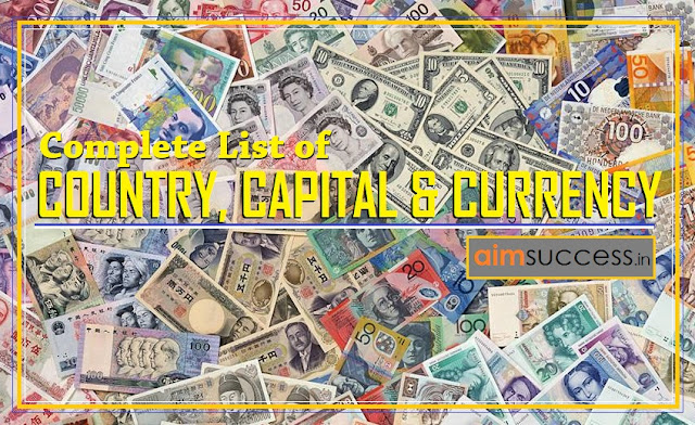 Complete List of Country, Capital and Currency