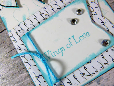 How to Create Wedding Themed  Tags With Hearty Doodles Stamps 1