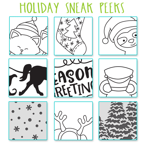 Holiday SNEAK PEEKS! Holiday Release by Newton's Nook Designs #newtonsnoo