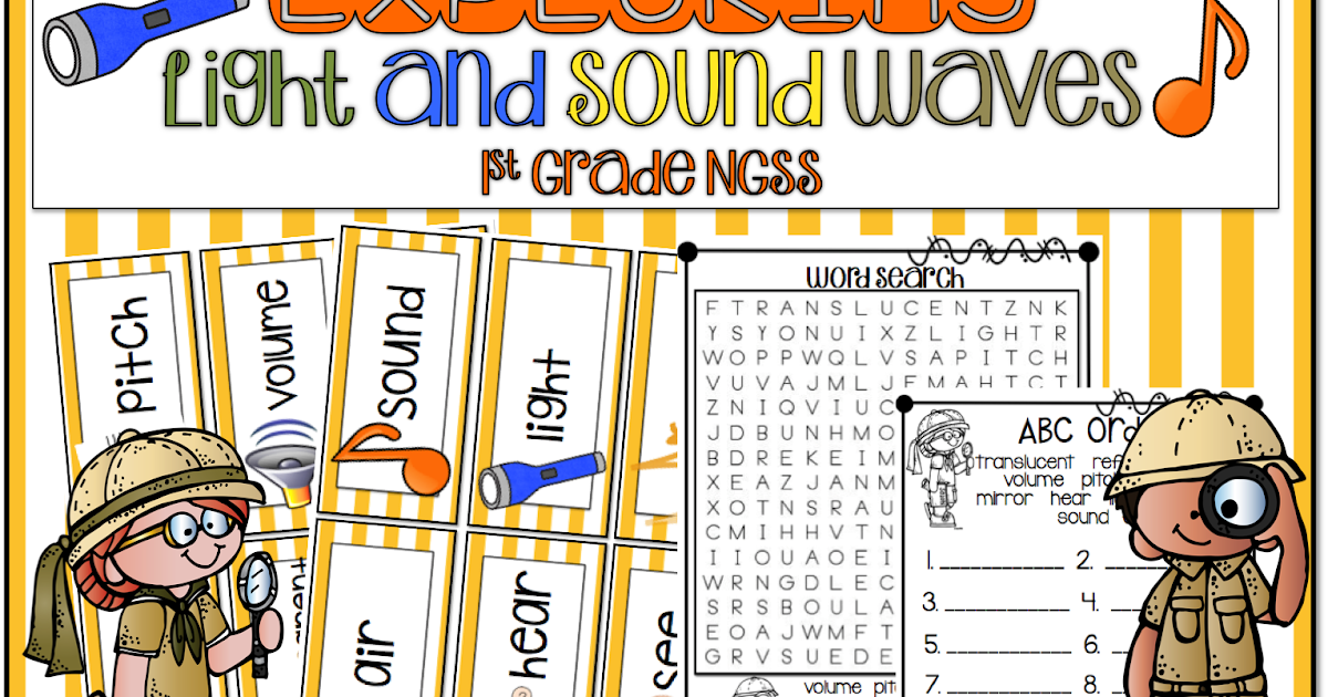 1st Grade Hip Hip Hooray Sound And Light Waves Ngss 1st