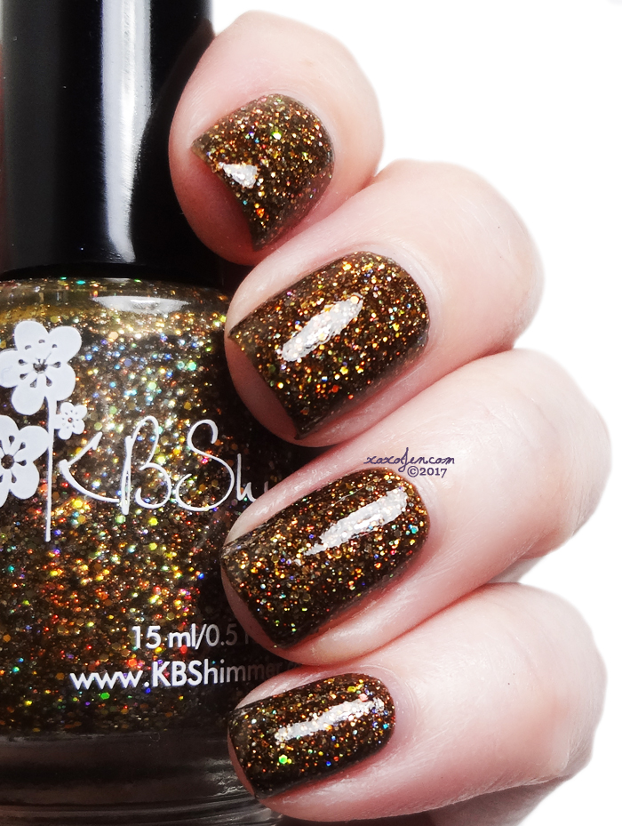 xoxoJen's swatch of KBShimmer Espresso Yourself