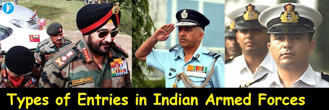 Types of Entries in Indian Armed Forces