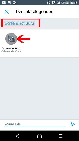 Android'de bir tweet'in ekran görüntüsünü alma-www.ceofix.com