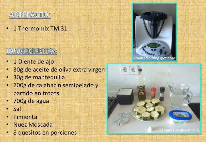 CREMA DE CALABACIN - THERMOMIX TM 31