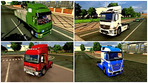 Mercedes 4 trucks pack