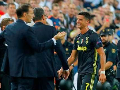 Cristiano Ronaldo In Tears After Red Card Against Valencia (Photos)