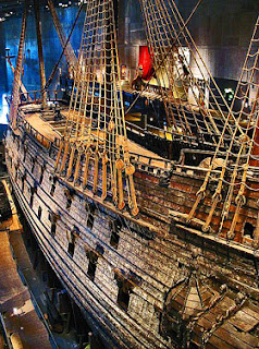 photo of Vasa, the legendary 17th century Swedish warship