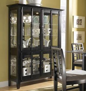 gambar desain lemari hias minimalis modern