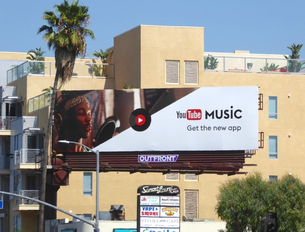 YouTube Music app billboard