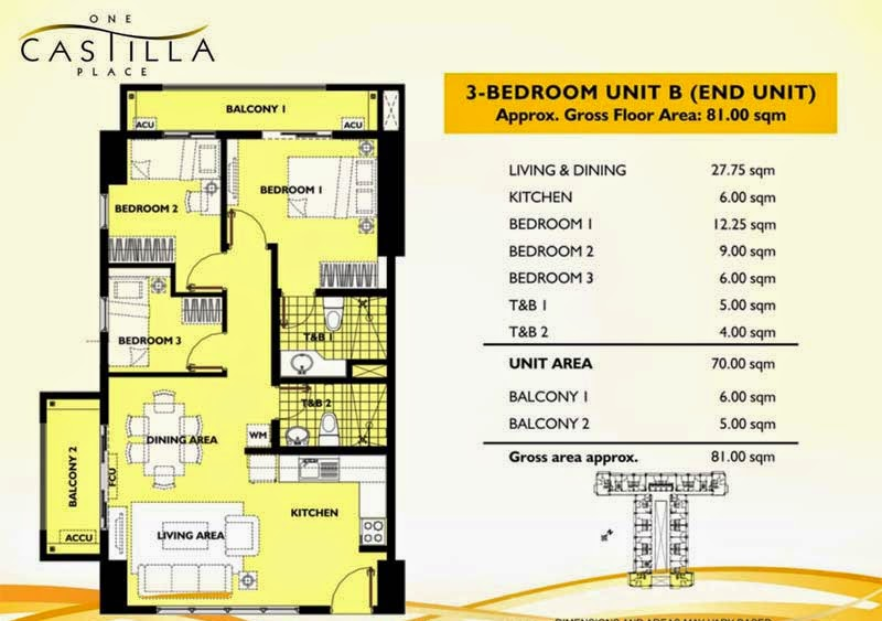 One Castilla Place 3 Bedroom Unit-B