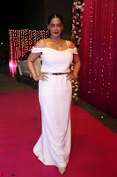 Mumaith Khan Spicy pics in Deep Neck White Gown at Zee Telugu Apsara Awards 2017 15.JPG