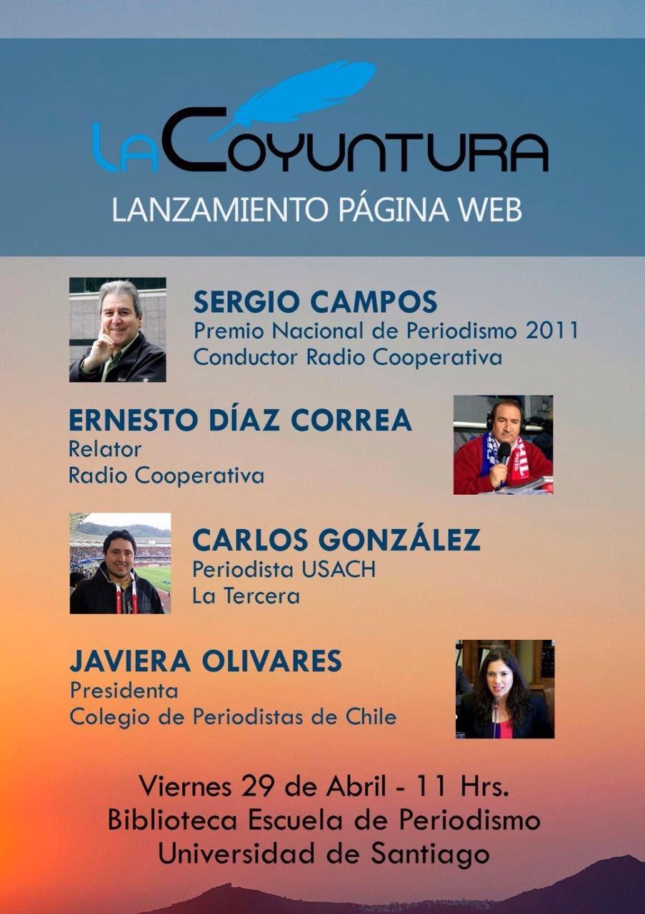 """Invitación lanzamiento  de revista """"La Coyuntura"""""""