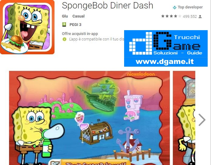 Trucchi SpongeBob Diner Dash Mod Apk Android 3.25.3