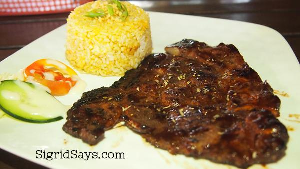 Spice Kitchen pork steak