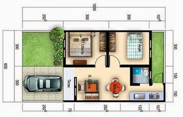10 gambar denah rumah minimalis type 36 modern | desain