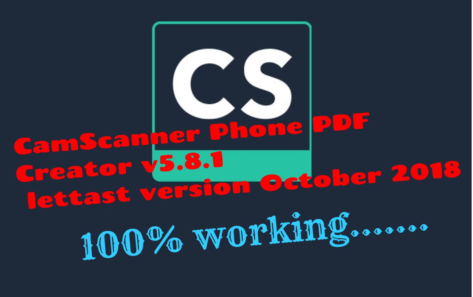 JoMobileTech: CamScanner Phone PDF Creator v5 8 1 & v-5 8 3 UNLOCKED APK