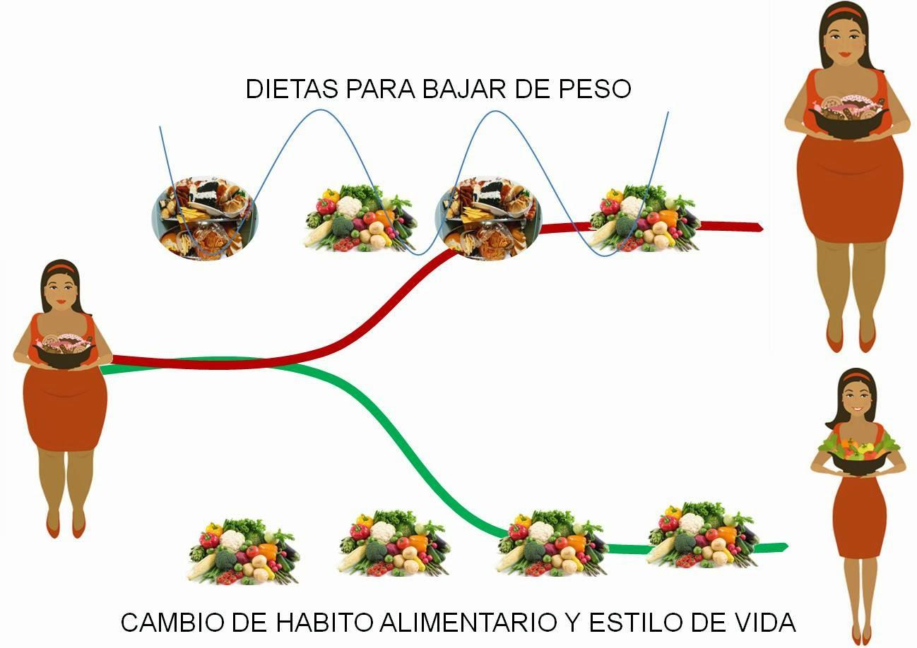 Bajar de peso cambiando habitos alimenticios