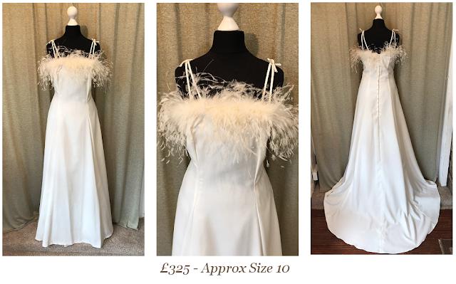 Feather Vintage Wedding Dress