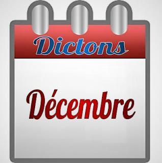 Dictons français pour le mois de Décembre