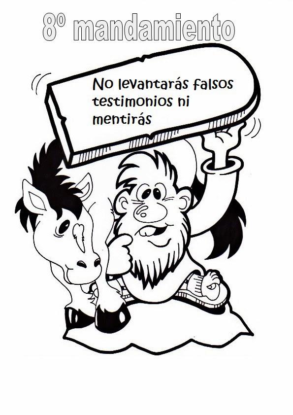 Image Of Dibujos Cristianos Para Colorear De Los Diez Mandamientos ...
