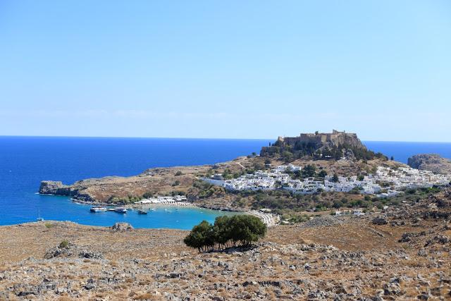 acropolis, rhodes , greece
