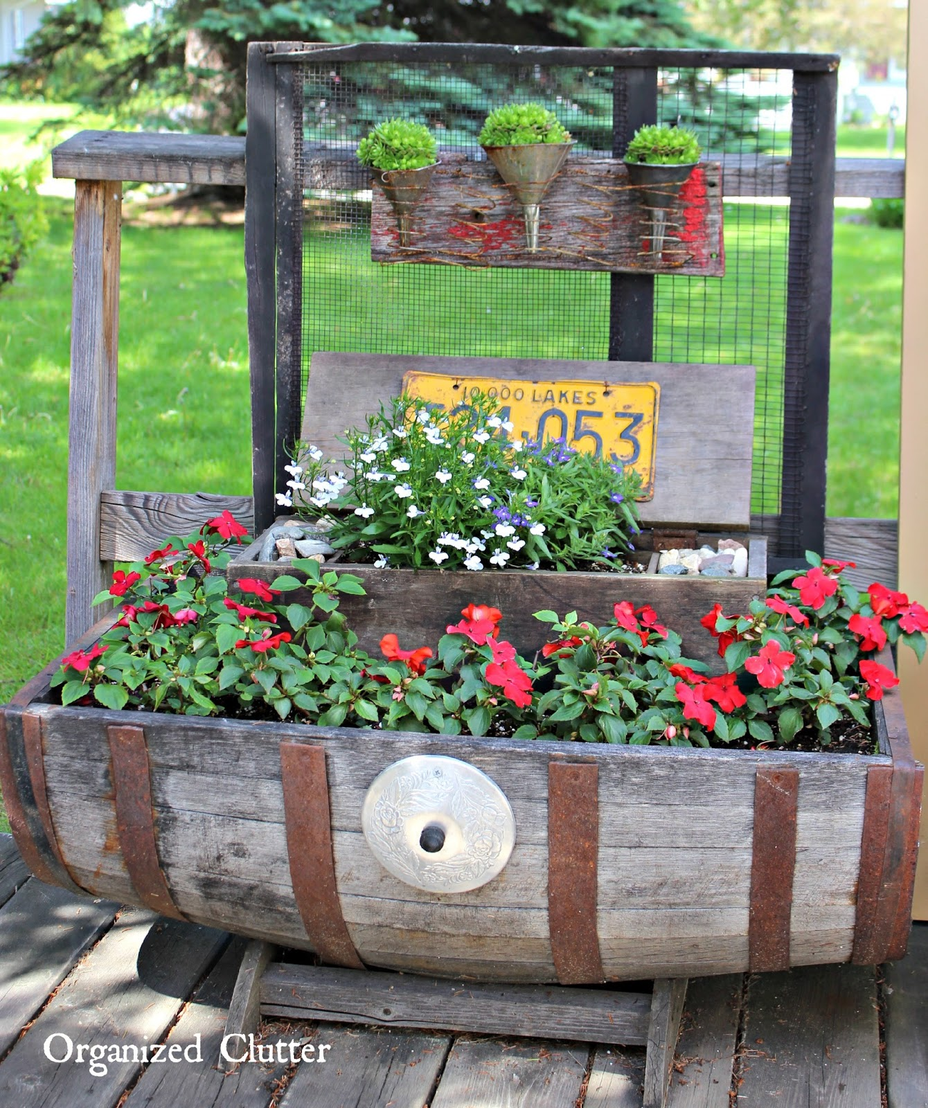 Adding Vertical Interest To The Container Garden Www.organizedclutter.net